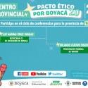 Finaliza su recorrido provincial el Pacto Ético por Boyacá