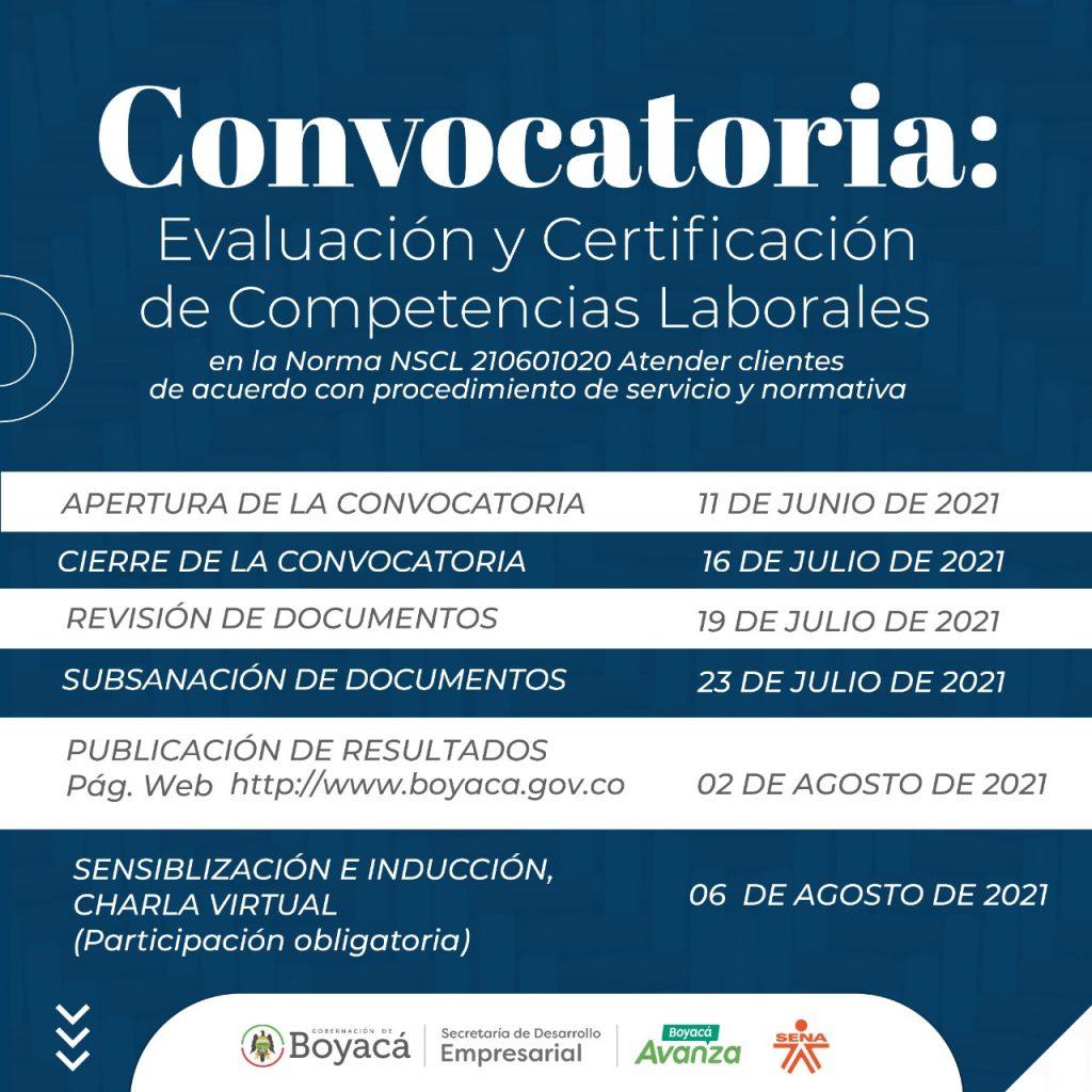 Amplían el plazo para participar en la convocatoria: 'Evaluación y Certificación de Competencias Laborales en la Norma NSCL 210601020