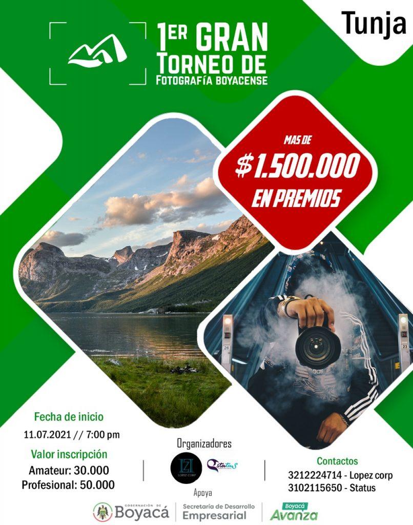 A partir de este 11 de julio se llevará a cabo el Primer Gran Torneo de Fotografía Boyacense