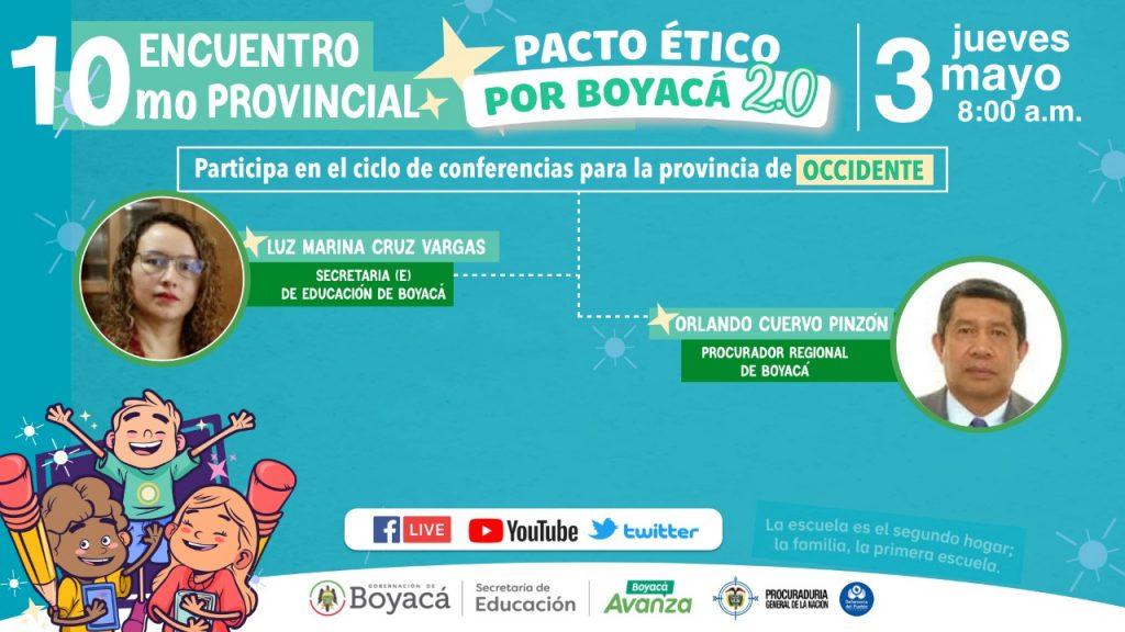 Pacto Ético por Boyacá sigue su visita a las provincias con la comunidad educativa de Occidente