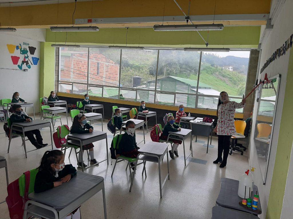El 92% de instituciones educativas de Boyacá están en presencialidad