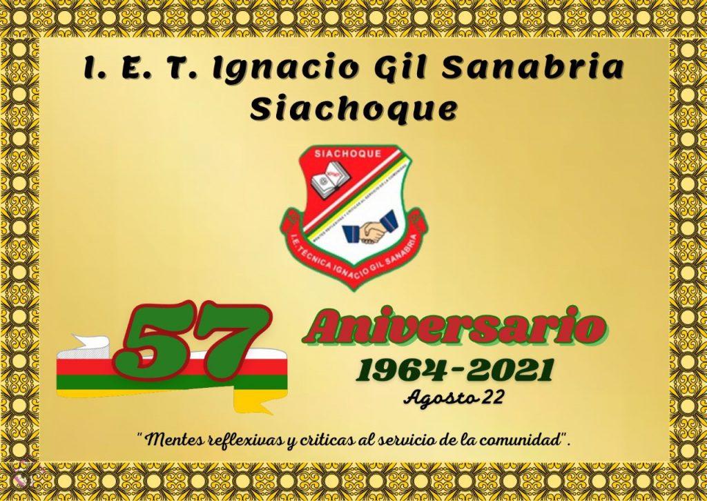 La Institución Educativa Técnica 'Ignacio Gil Sanabria' de Siachoque cumple 57 años de labores académicas