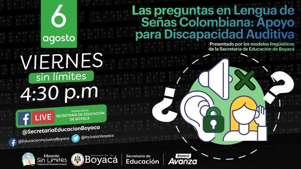 Secretaría de Educación invita a una nueva sesión de Viernes Sin Límites para capacitar a los docentes en el aprendizaje de Lengua de Señas Colombiana