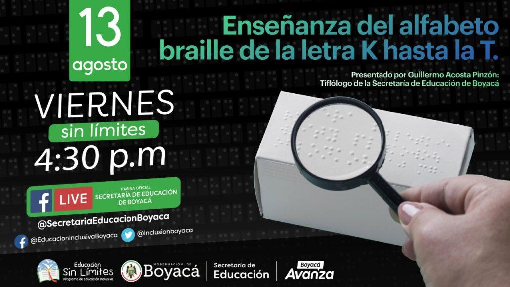 Viernes Sin Límites sigue con la enseñanza del alfabeto Braille