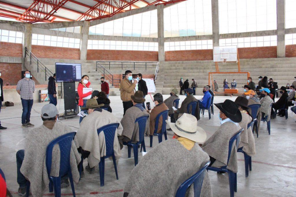 Presencialmente avanza fase de consulta con comunidades del páramo de Pisba