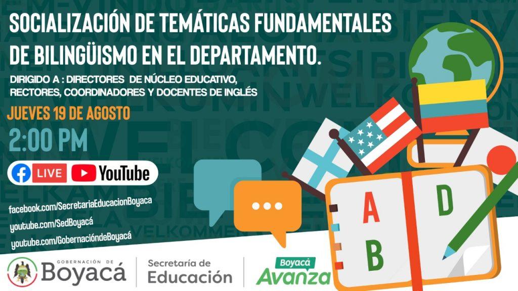 Secretaría de Educación socializará temáticas del Bilingüismo con los docentes y directivos docentes