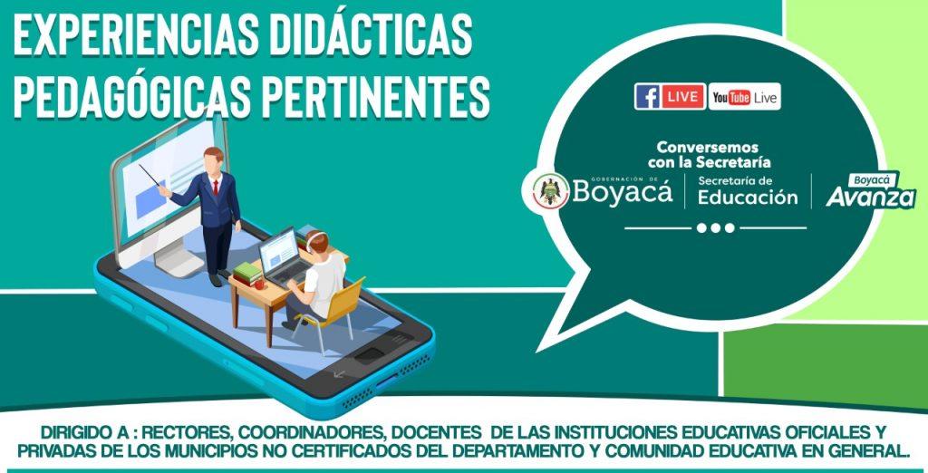 """Comunidades educativas de Boyacá conocerán una serie de """"Experiencias Didácticas Pedagógicas Pertinentes"""""""