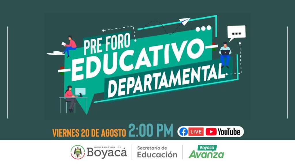 Educación anuncia el comienzo del Foro Educativo Nacional