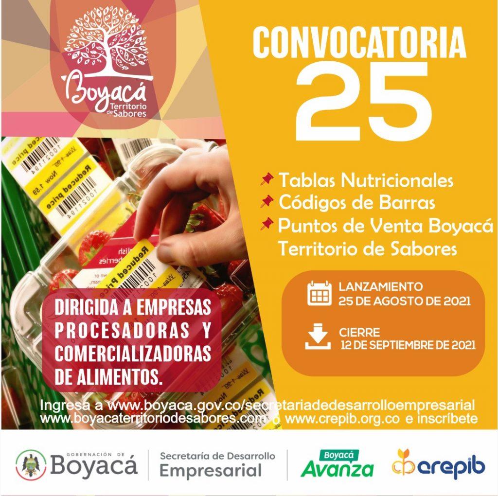 Desarrollo Empresarial abrió convocatoria N° 25 ¡Boyacá Territorio De Sabores!