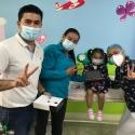 Secretarías de TIC y Salud de Boyacá entregaron tabletas a niños que se vacunaron contra el Sarampión y la Rubéola