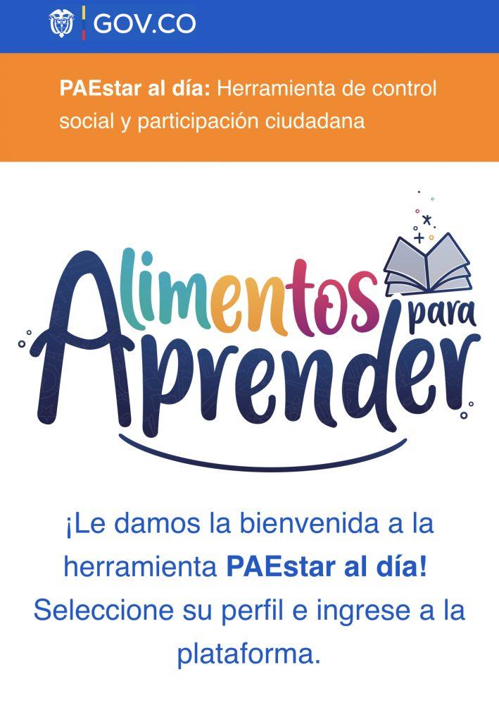 Colombia y Boyacá se beneficiarán de PAEstar al día, una herremienta digital para hacer seguimiento al Programa de Alimentación Escolar