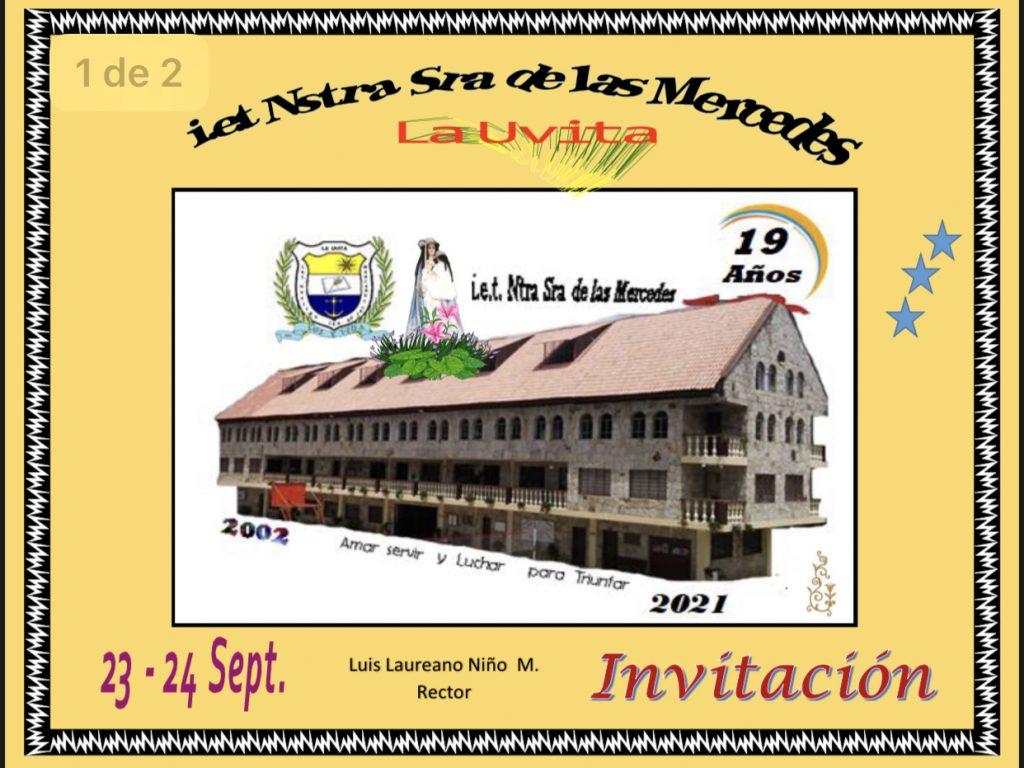 Institución educativa de La Uvita cumple 19 años de labores académicas