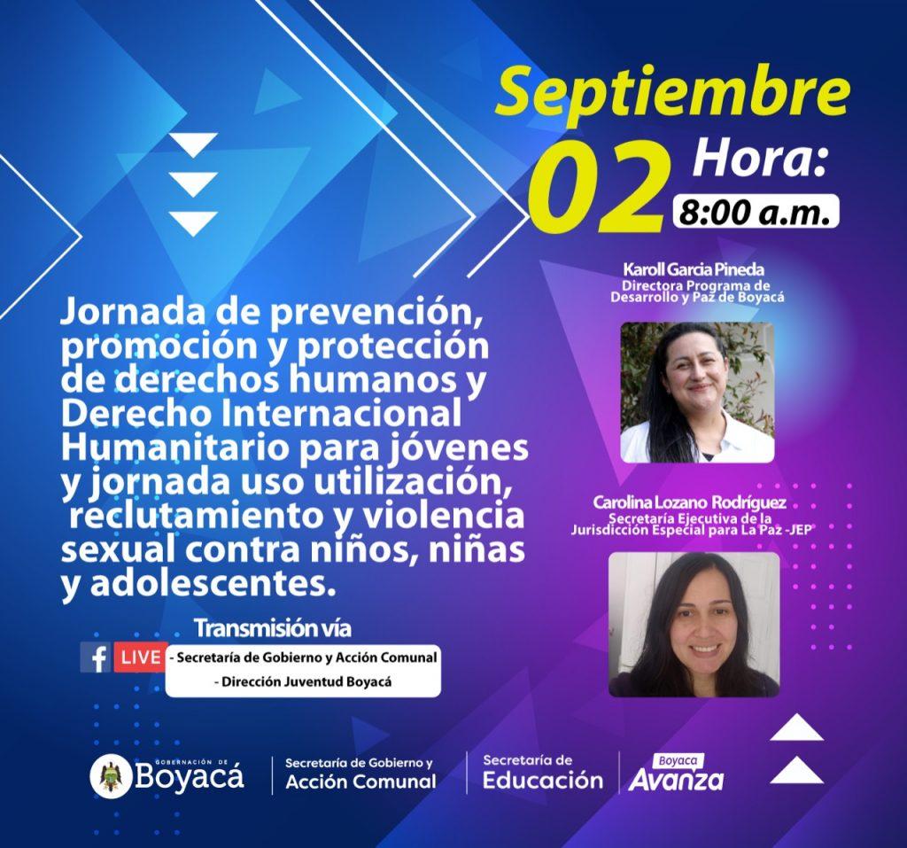 Educación y Gobierno y Acción Comunal realizarán espacio de formación sobre Prevención y Protección de Derechos Humanos y Derecho Internacional Humanitario