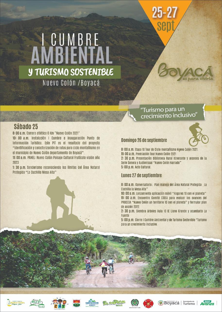 Nuevo Colón se realizará la I Cumbre Ambiental y Turismo Sostenible del 25 al 27 de septiembre