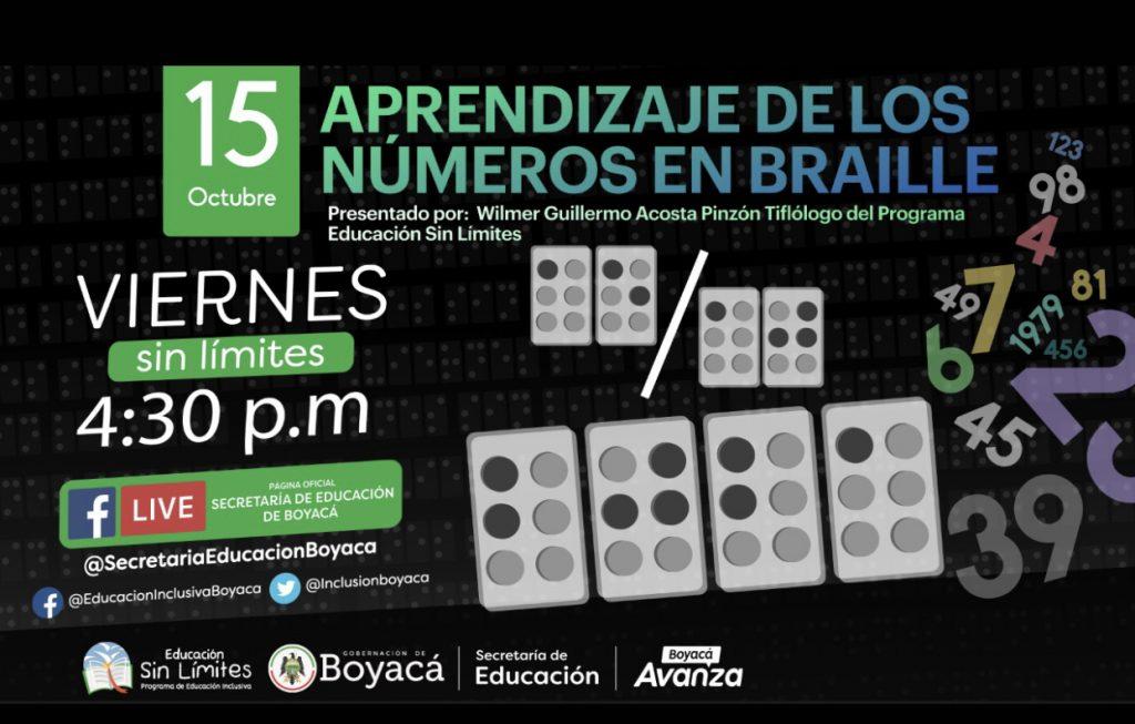 Aprendizaje de los números en Braille será el tema de Viernes Sin Límite